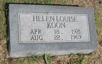KOON, HELEN - Erath County, Texas | HELEN KOON - Texas Gravestone Photos