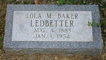 LEDBETTER, LOLA - Erath County, Texas | LOLA LEDBETTER - Texas Gravestone Photos
