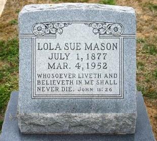 MASON, LOLA - Erath County, Texas   LOLA MASON - Texas Gravestone Photos