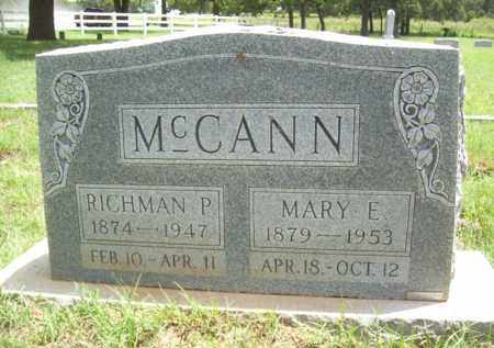 MCCANN, MARY E. - Erath County, Texas | MARY E. MCCANN - Texas Gravestone Photos