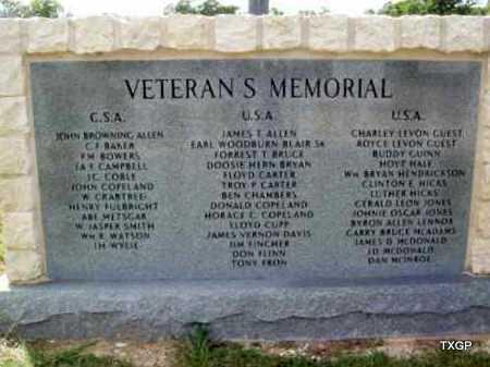 *VETERAN'S  MEMORIAL,  - Erath County, Texas |  *VETERAN'S  MEMORIAL - Texas Gravestone Photos