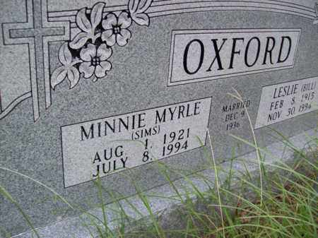 SIMS OXFORD, MINNIE MYRLE - Erath County, Texas | MINNIE MYRLE SIMS OXFORD - Texas Gravestone Photos