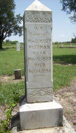 PITTMAN, H.F. - Erath County, Texas | H.F. PITTMAN - Texas Gravestone Photos