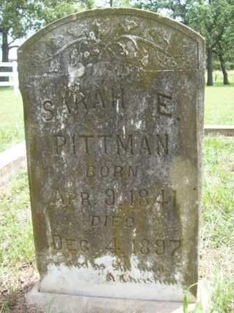 PITTMAN, SARAH E. - Erath County, Texas   SARAH E. PITTMAN - Texas Gravestone Photos