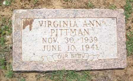 PITTMAN, VIRGINIA ANN - Erath County, Texas | VIRGINIA ANN PITTMAN - Texas Gravestone Photos