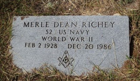 RICHEY (VETERAN WWII), MERLE DEAN - Erath County, Texas | MERLE DEAN RICHEY (VETERAN WWII) - Texas Gravestone Photos