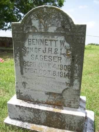 SAGESER, BENNETT W. - Erath County, Texas | BENNETT W. SAGESER - Texas Gravestone Photos