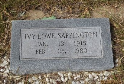 SAPPINGTON, IVY - Erath County, Texas | IVY SAPPINGTON - Texas Gravestone Photos