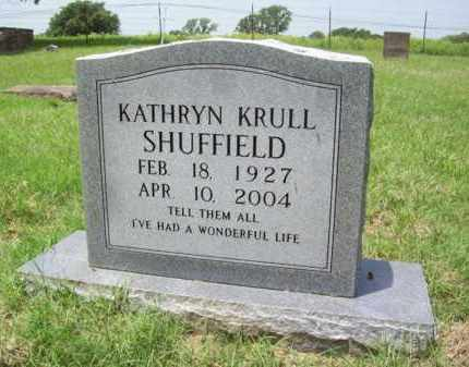 SHUFFIELD, KATHRYN - Erath County, Texas | KATHRYN SHUFFIELD - Texas Gravestone Photos