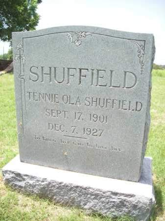 SHUFFIELD, TENNIE OLA - Erath County, Texas | TENNIE OLA SHUFFIELD - Texas Gravestone Photos