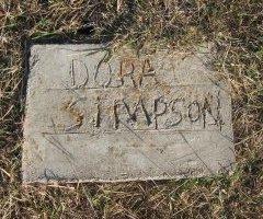 SIMPSON, DORA - Erath County, Texas | DORA SIMPSON - Texas Gravestone Photos