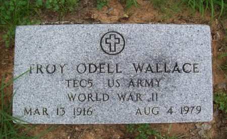 WALLACE {VETERAN  WWII}, TROY ODELL - Erath County, Texas | TROY ODELL WALLACE {VETERAN  WWII} - Texas Gravestone Photos