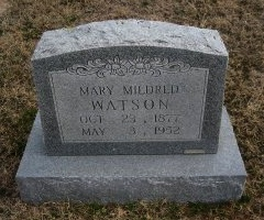KUYKENDALL WATSON, MARY - Erath County, Texas | MARY KUYKENDALL WATSON - Texas Gravestone Photos