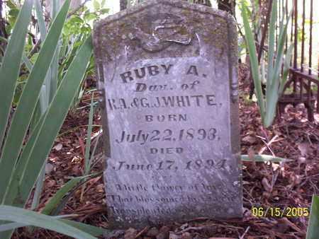 WHITE, RUBY A - Erath County, Texas | RUBY A WHITE - Texas Gravestone Photos