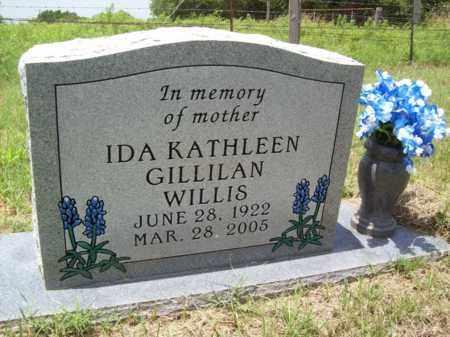 WILLIS, IDA KATHLEEN - Erath County, Texas | IDA KATHLEEN WILLIS - Texas Gravestone Photos