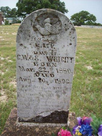 WRIGHT, S.L.V. - Erath County, Texas | S.L.V. WRIGHT - Texas Gravestone Photos