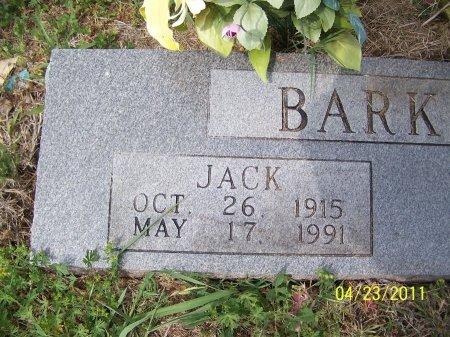 BARKLEY, JACK  (CLOSEUP) - Falls County, Texas | JACK  (CLOSEUP) BARKLEY - Texas Gravestone Photos