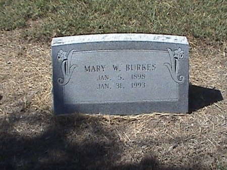 BURKES, MARY W. - Falls County, Texas | MARY W. BURKES - Texas Gravestone Photos