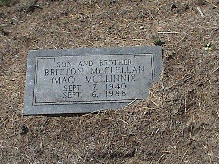 MULLINNIX, BRITTON MCLELLAN (MAC) - Falls County, Texas | BRITTON MCLELLAN (MAC) MULLINNIX - Texas Gravestone Photos