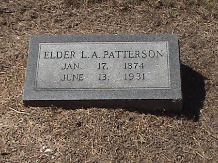 PATTERSON, ELDER L. A. - Falls County, Texas | ELDER L. A. PATTERSON - Texas Gravestone Photos