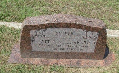 AKARD, HATTIE NELL - Fannin County, Texas | HATTIE NELL AKARD - Texas Gravestone Photos