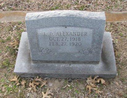 ALEXANDER, J. D. - Fannin County, Texas | J. D. ALEXANDER - Texas Gravestone Photos