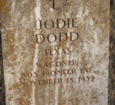 DODD (VETERAN WWI), JODIE - Fannin County, Texas | JODIE DODD (VETERAN WWI) - Texas Gravestone Photos