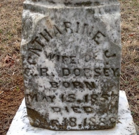 DORSEY, CATHARINE J. (CLOSE UP) - Fannin County, Texas | CATHARINE J. (CLOSE UP) DORSEY - Texas Gravestone Photos