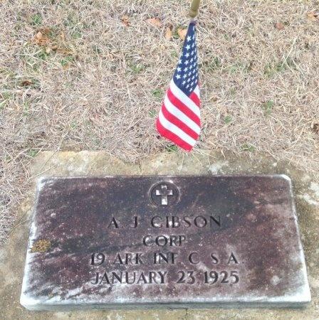 GIBSON (VETERAN CSA), A J - Fannin County, Texas | A J GIBSON (VETERAN CSA) - Texas Gravestone Photos