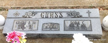 GLASS, SR., GRADY B. - Fannin County, Texas | GRADY B. GLASS, SR. - Texas Gravestone Photos