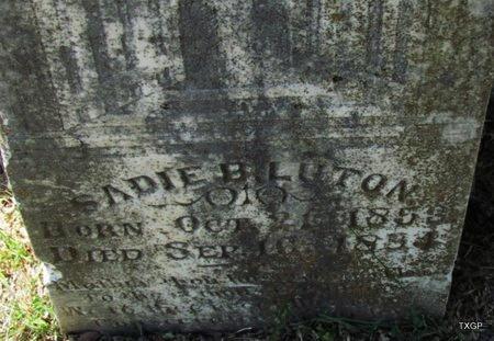 LUTON, SADIE B (CLOSE UP) - Fannin County, Texas   SADIE B (CLOSE UP) LUTON - Texas Gravestone Photos
