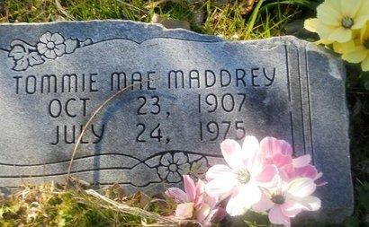 MADDREY, TOMMIE MAE - Fannin County, Texas | TOMMIE MAE MADDREY - Texas Gravestone Photos