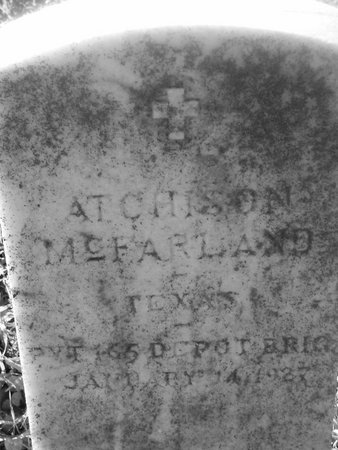 MCFARLAND (VETERAN WWI), ATCHISON - Fannin County, Texas | ATCHISON MCFARLAND (VETERAN WWI) - Texas Gravestone Photos