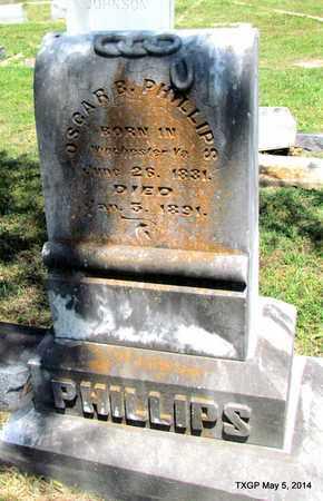 PHILLIPS, OSCAR B. - Fannin County, Texas   OSCAR B. PHILLIPS - Texas Gravestone Photos