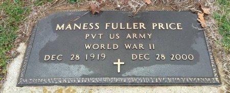 PRICE (VETERAN WWII), MANESS FULLER  - Fannin County, Texas   MANESS FULLER  PRICE (VETERAN WWII) - Texas Gravestone Photos