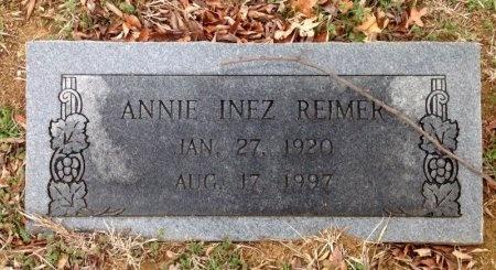 REIMER, ANNIE INEZ - Fannin County, Texas | ANNIE INEZ REIMER - Texas Gravestone Photos