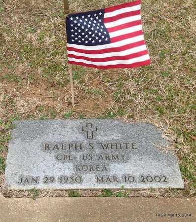 WHITE (VETERAN KOR), RALPH S - Fannin County, Texas | RALPH S WHITE (VETERAN KOR) - Texas Gravestone Photos