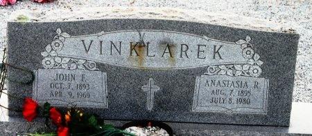 VINKLAREK, JOHN F. - Fayette County, Texas | JOHN F. VINKLAREK - Texas Gravestone Photos