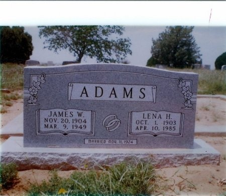 ADAMS, LENA - Fisher County, Texas | LENA ADAMS - Texas Gravestone Photos