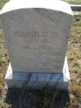 LEMONS, HAROLD D. - Floyd County, Texas | HAROLD D. LEMONS - Texas Gravestone Photos