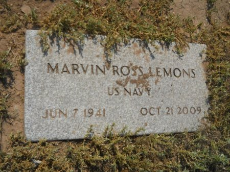 LEMONS (VETERAN), MARVIN ROSS - Floyd County, Texas | MARVIN ROSS LEMONS (VETERAN) - Texas Gravestone Photos