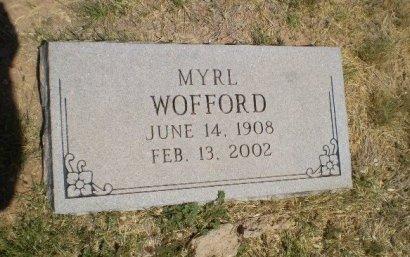WOFFORD, MYRL - Floyd County, Texas   MYRL WOFFORD - Texas Gravestone Photos