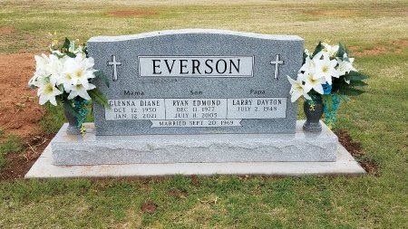 EVERSON, GLENNA DIANE - Foard County, Texas   GLENNA DIANE EVERSON - Texas Gravestone Photos