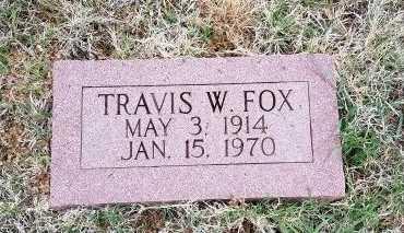 FOX, TRAVIS W. - Foard County, Texas | TRAVIS W. FOX - Texas Gravestone Photos
