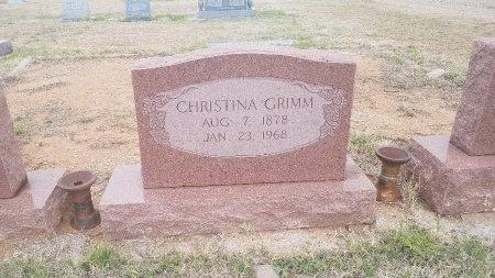 GRIMM, MARY CHRISTINA - Foard County, Texas | MARY CHRISTINA GRIMM - Texas Gravestone Photos