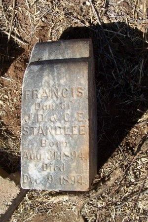 STANDLEE, FRANCIS - Foard County, Texas | FRANCIS STANDLEE - Texas Gravestone Photos