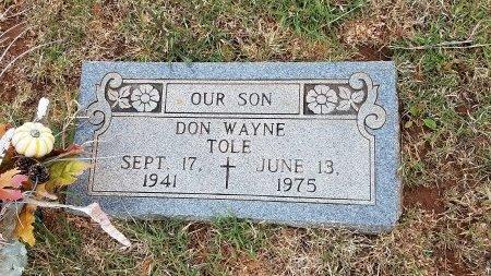 TOLE, DON WAYNE - Foard County, Texas   DON WAYNE TOLE - Texas Gravestone Photos