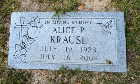 PERRY KRAUSE, ALICE MAE - Fort Bend County, Texas | ALICE MAE PERRY KRAUSE - Texas Gravestone Photos