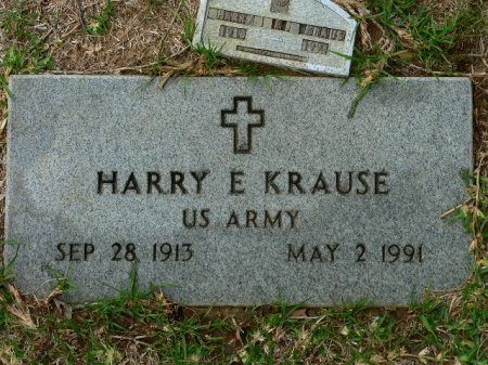 KRAUSE (VETERAN), HARRY E. - Fort Bend County, Texas | HARRY E. KRAUSE (VETERAN) - Texas Gravestone Photos