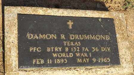 DRUMMOND (VETERAN WWI)), DAMON R - Franklin County, Texas | DAMON R DRUMMOND (VETERAN WWI)) - Texas Gravestone Photos